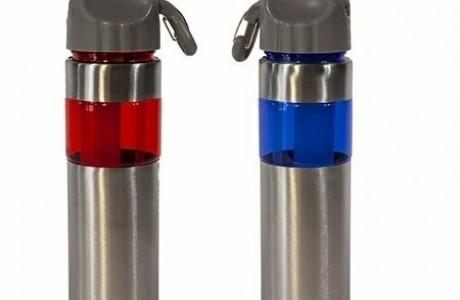 בקבוק ספורט נירוסטה בשילוב פלסטיק- הלוגו שלך עושה את ההבדל ...