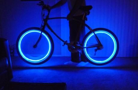 4 ערכות תאורת לד המתחברת לונטיל גלגל אופניים