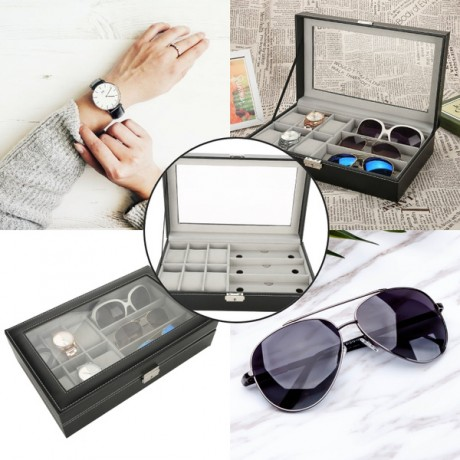 קופסא ל 3 משקפי שמש ו  6 שעונים