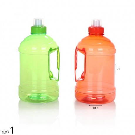 בקבוק שתיה 1 ליטר בעיצוב כד שתיה בר מים