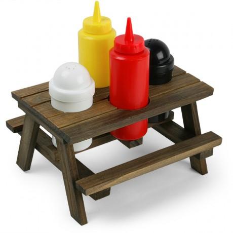 מיני שולחן פיקניק מעוצב כסט תבלינים