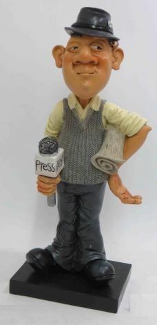 פסל עיתונאי עם אפשרות הקדשה אישית