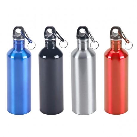 בקבוק שתייה (אדיר) אלומיניום, ציפוי פנימי להגנה על המשקה, ארבעה דגמים לבחירה