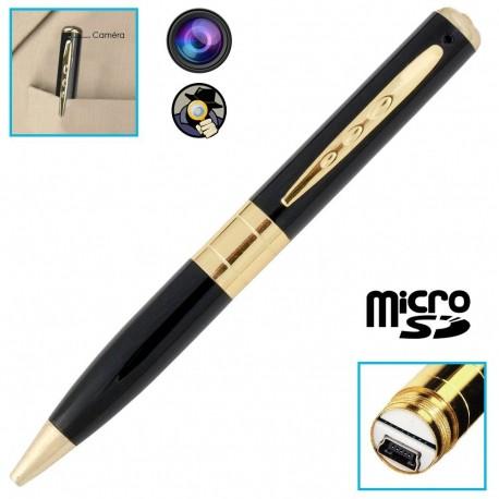 עט כתיבה מוסלק במצלמת ריגול וידאו וקול