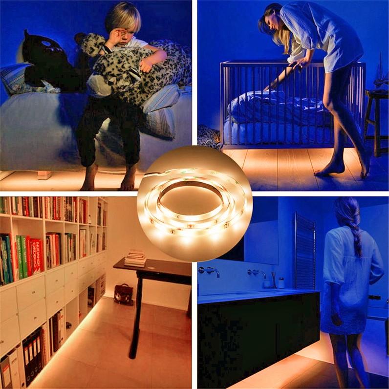 ערכת תאורת לדים עם חיישן חכם לשעות החשיכה לחדרי שינה ...ועוד