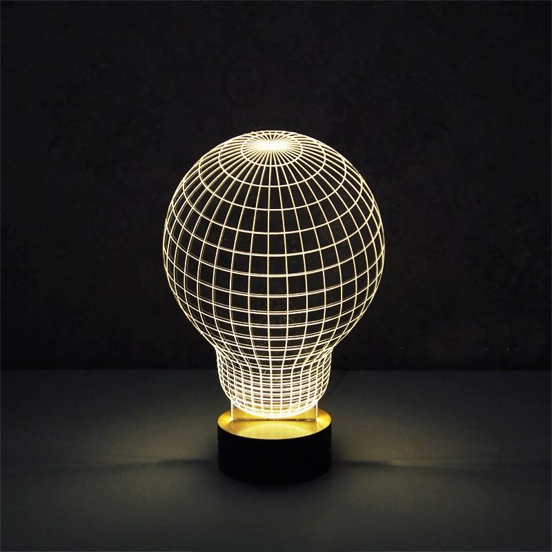 מנורות הולוגרמה תלת מימד בצורות שונות